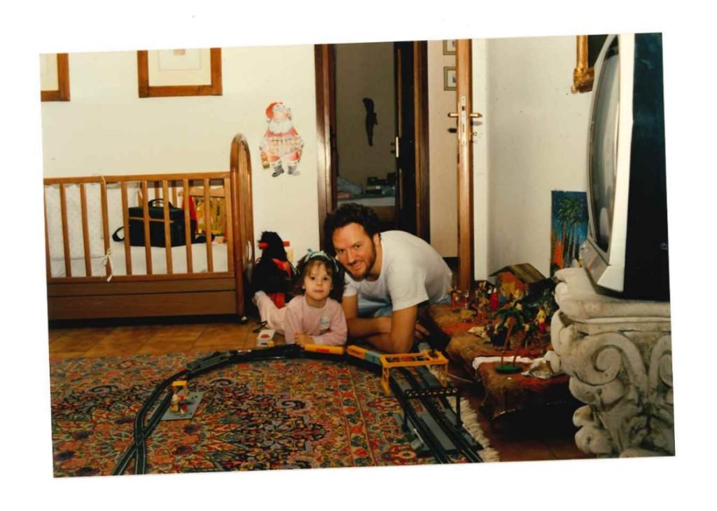 Sara e papà - trenino